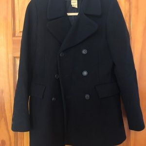 APC Mens Medium Black Wool Pea Coat